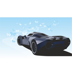 Futuristic sports car vector