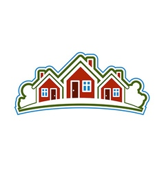 Colorful holiday houses home image with hor vector