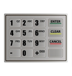 Realistic atm keypad vector