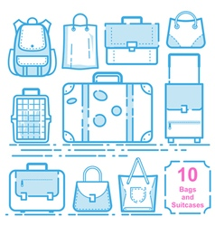 Bags and suitcases vector