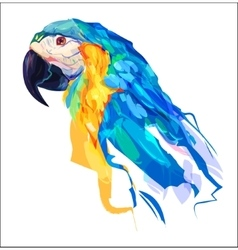 The cute parrot head vector image