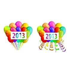 balloons 2013 vector image vector image