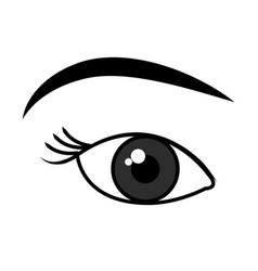 beautiful eye view icon vector image