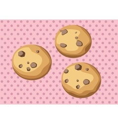 Chocolate chip cookies vector