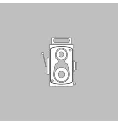 Cinema camera computer symbol vector image