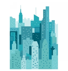 Cityscape geometric vector image