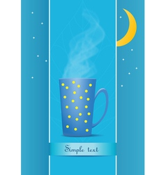 cup of tea evening vector image vector image