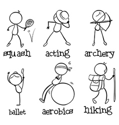 Different activities vector