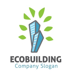 Eco building design vector