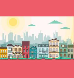 flat style modern city landscape vector image vector image