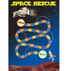 Game template with space in background vector