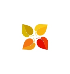 Isolated abstract colorful leaves logo foliage vector