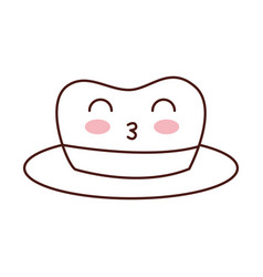 Kawaii hat for men accessory old fashion vector
