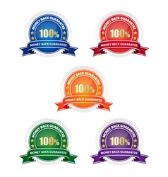 Money back guarantee badges vector