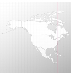 North america in a cage on white background vector