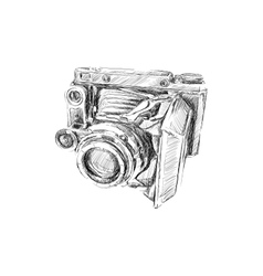 Old camera vector