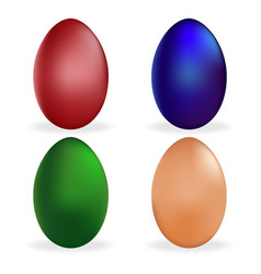 Set easter egg icon holiday symbol isolated vector