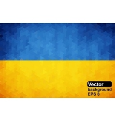 Ukrainian flag of geometric shapes vector