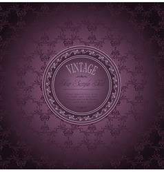 vintage elegant luxurious vector image