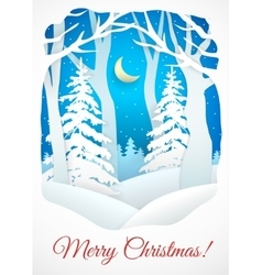 Winter Christmas card vector image vector image