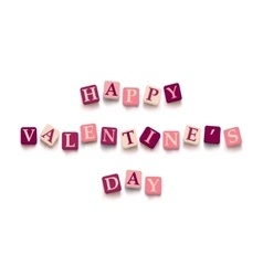 Words happy valentine day vector