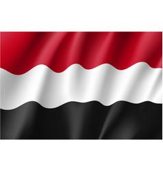 yemen national flag vector image vector image