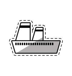 Cruise ship travel maritime shadow vector