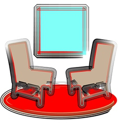 2 chairs vector