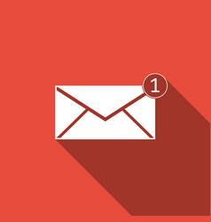 Received message concept new email on envelope vector
