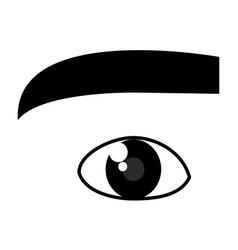 Beautiful eye view icon vector