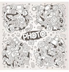 Photo hand drawn sketchy doodle designs vector