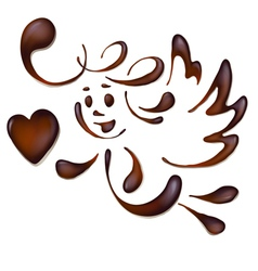 chocolate angel vector image