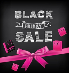 Poster sale black fridaytypography vector