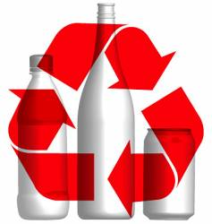 Recycle bottles and cans vector