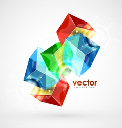Digital cubes vector