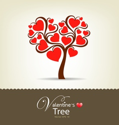 Happy valentine day tree vector