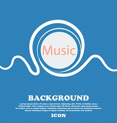 Music sign icon karaoke symbol blue and white vector