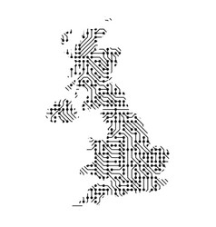 abstract schematic map of great britain from the vector image vector image
