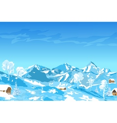 Alps mountains in winter vector