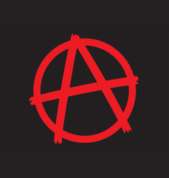 Anarchy symbol icon vector