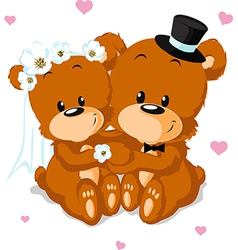 Bear wedding vector