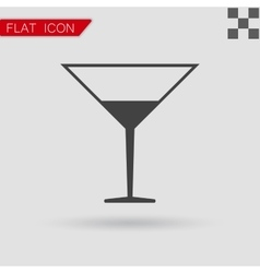 black Coctail icon vector image