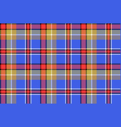 Blue madras check plaid pixeled seamless texture vector