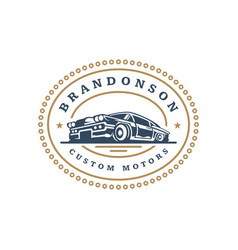 classic car logo template design element vector image vector image