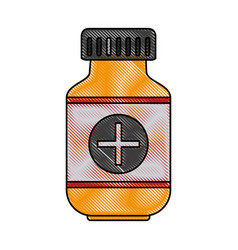 color blurred stripe of remedy bottle with tap and vector image vector image