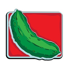 cucumber clip art vector image vector image
