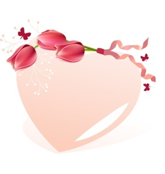 Delicate heart-shaped frame vector