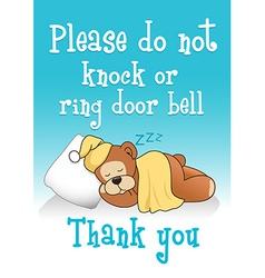 Do not knock sleeping bear 1 vector