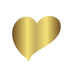 Gold gradient foil heart Valentine day love vector image vector image