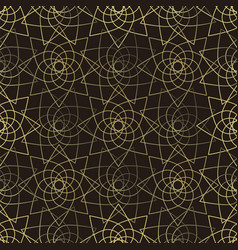 golden lotus seamless pattern vector image vector image